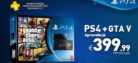 Bundle PS4 com GTA V (5) por 399€ durante período limitado