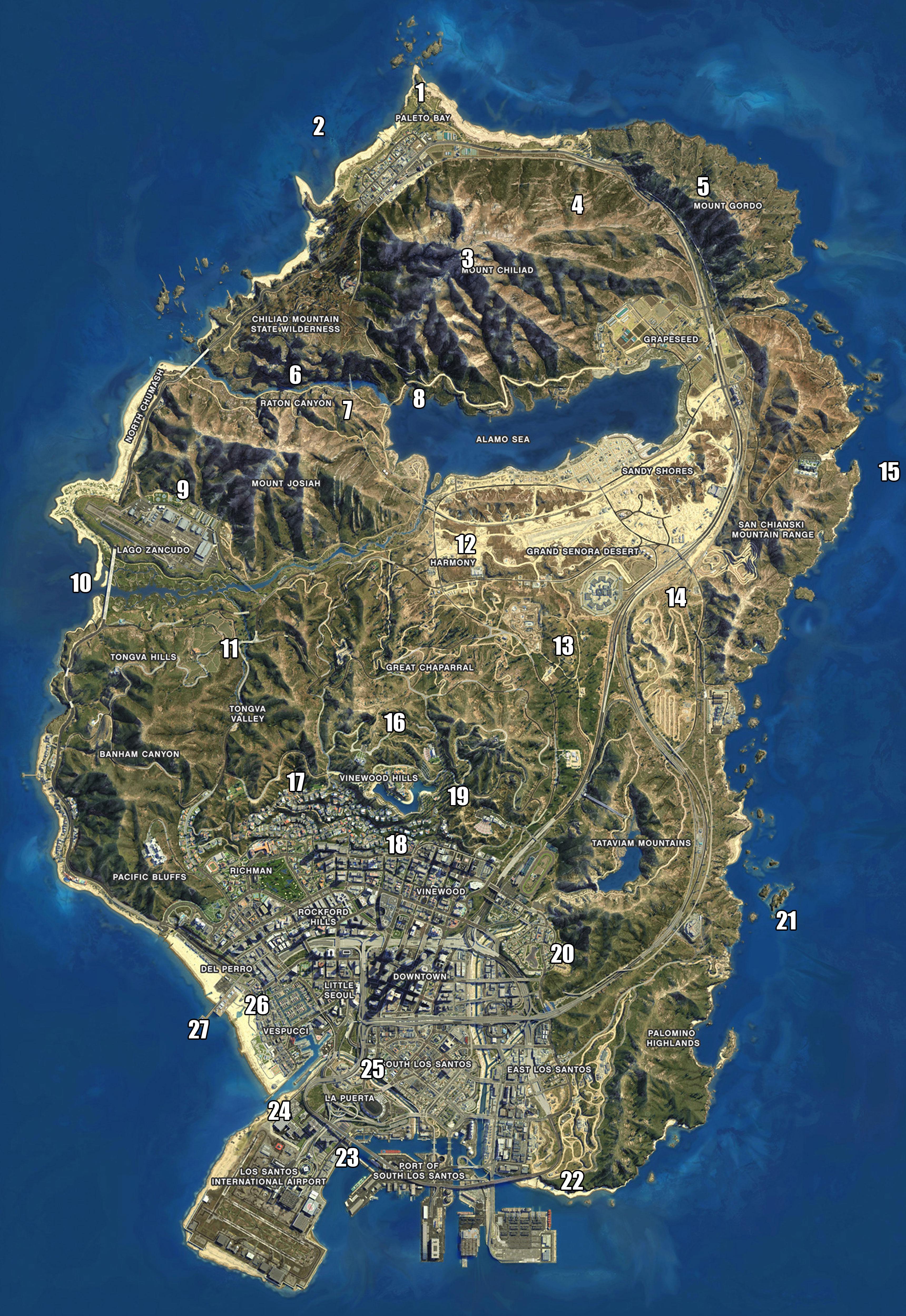 GTA V mapa Peyote Plants