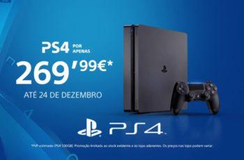 PS4 Slim com Promoção de Natal a 269€