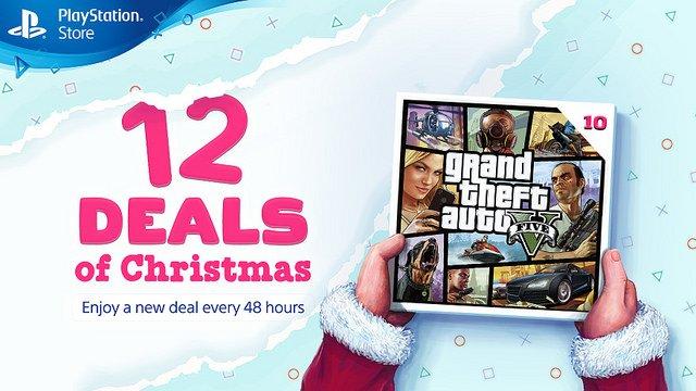 GTA V promoção de natal PS Store