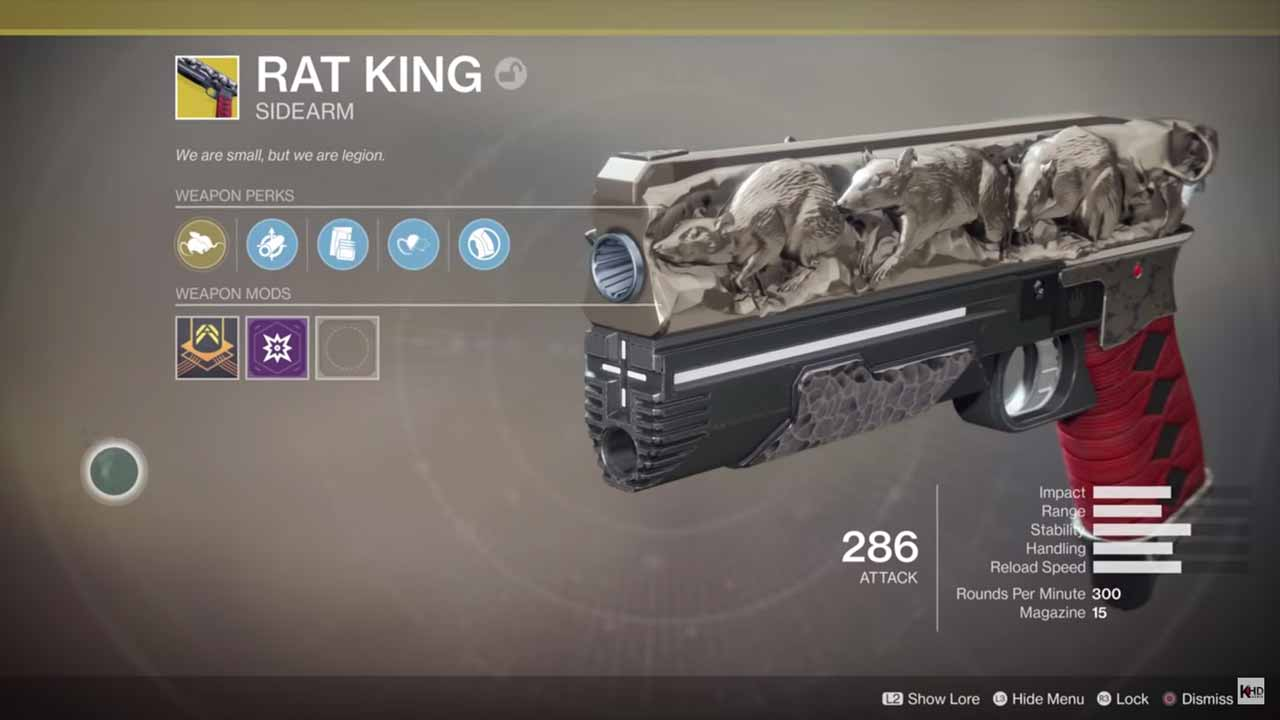 destiny 2 exórica rei dos ratos / rat king