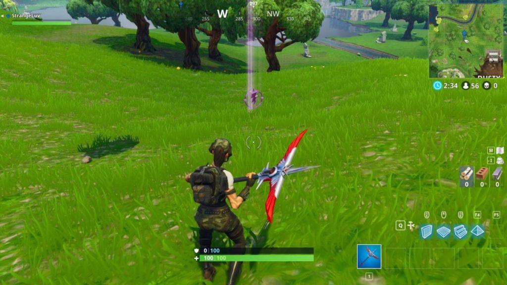 Fortnite Battle Royale visitar centros de diferentes círculos de tempestades