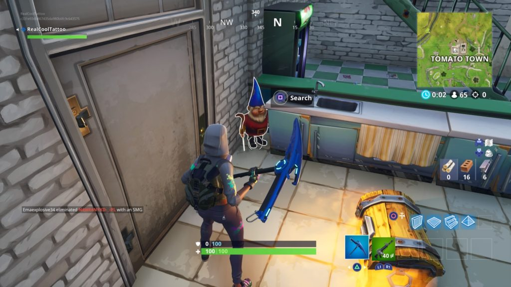 fortnite battle royale encontrar gnomos famintos