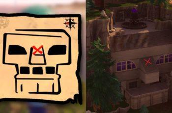 Fortnite Battle Royale Onde encontrar Tesouro do Mapa de Bosque Gorduroso / Greasy Grove