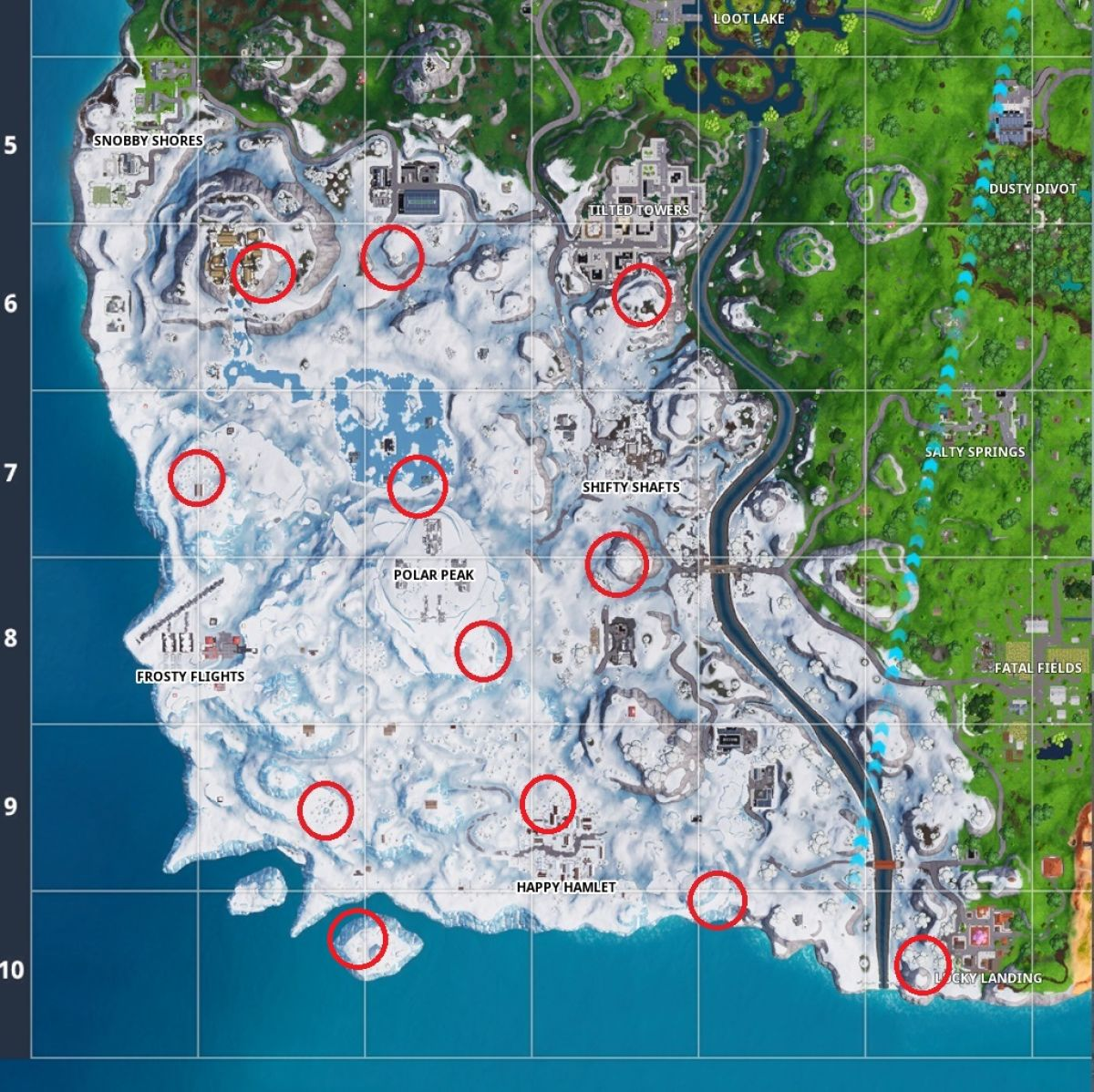 Mapa De Gnomos Fortnite.Fortnite Battle Royale Mapa Gnomos Congelados Your Games Zone